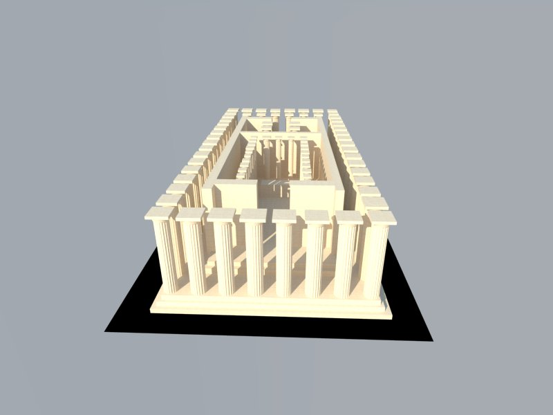 how to make a model of the parthenon