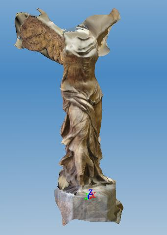 winged victory of samothrace 3d reconstruction in archaeology
