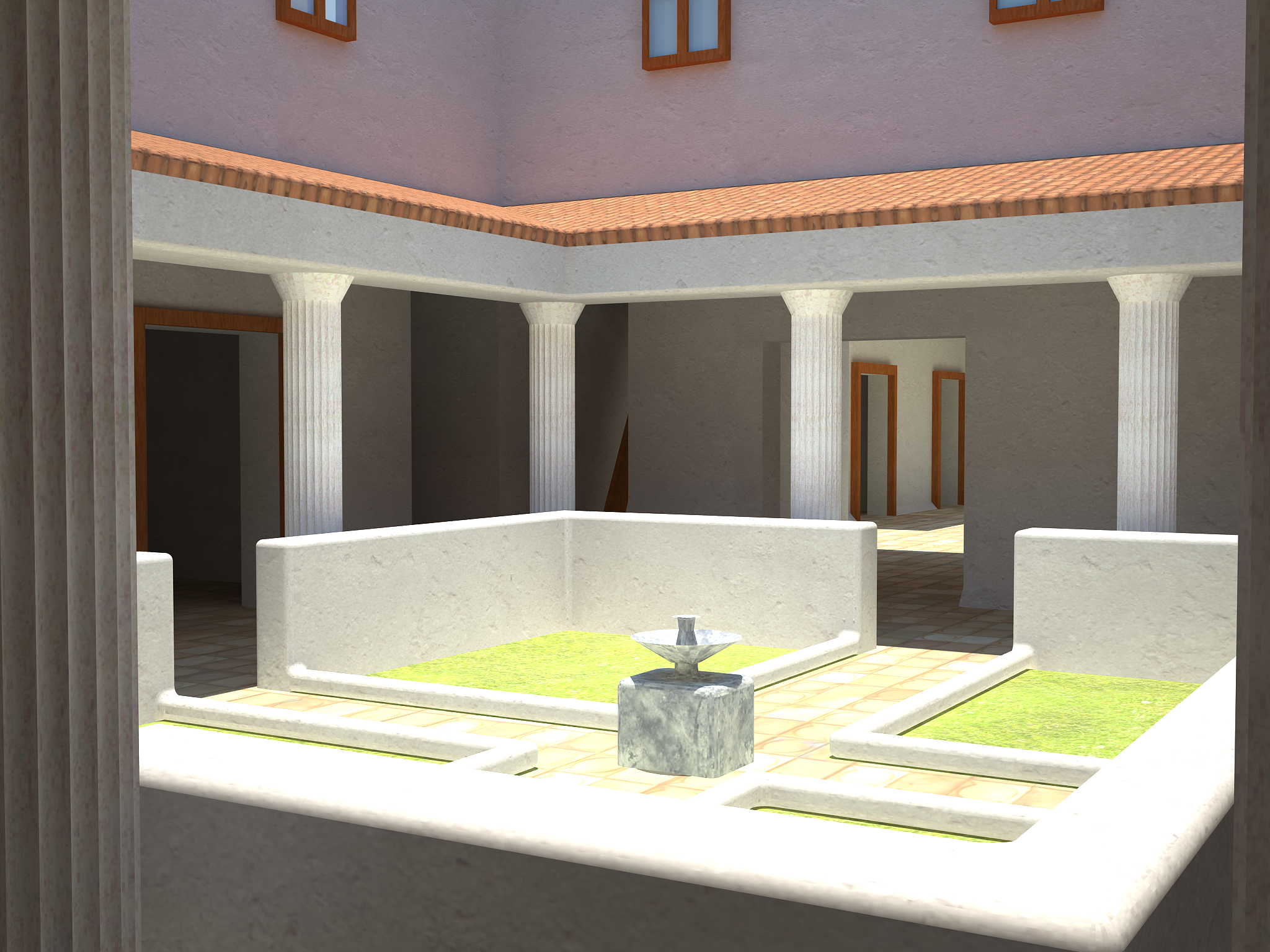 Roman Villa Reconstruction Preview 3d Reconstruction In
